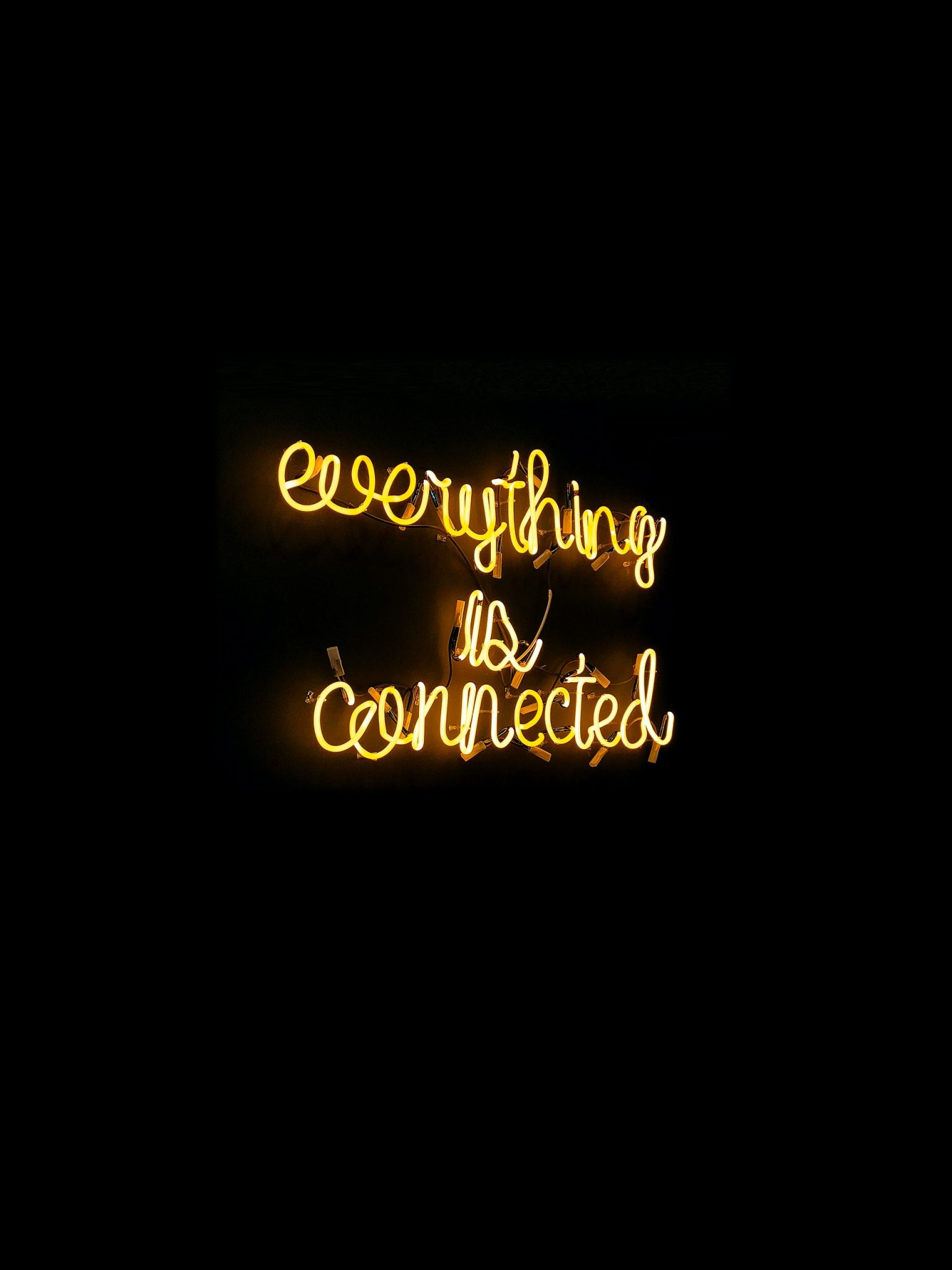 everything is connected neon sign - tyler tx web design